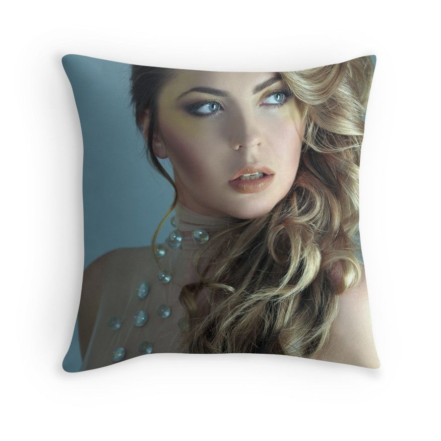 Portrait Of 19 Th Century Dressed Model At The Studio Throw Pillow By Anton Oparin Model Dress Portrait Throw Pillows