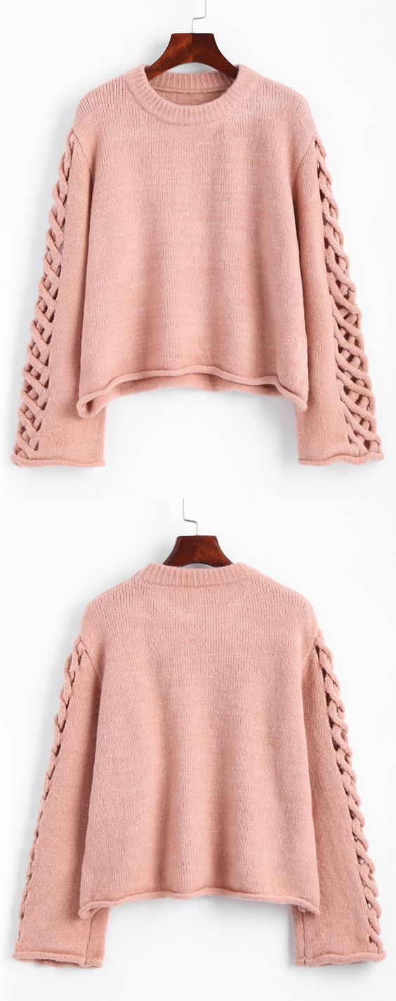 Oversized Braided Sleeve Pullover Sweater | Thanksgiving gifts ...