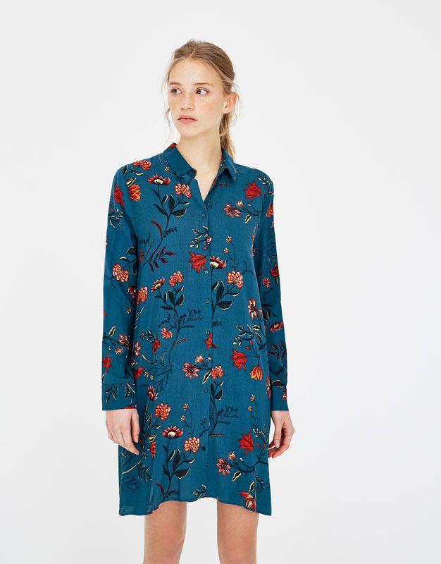 Robe chemise imprimee