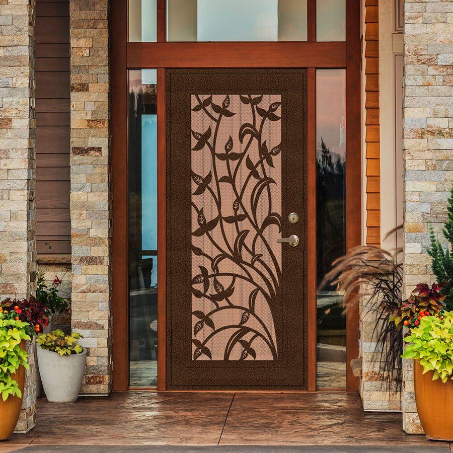 Titan Yale 36 In X 80 In Copperclad Aluminum Surface Mount Single Door Security Door Lowes Com Security Screen Door Security Door Aluminum Screen Doors