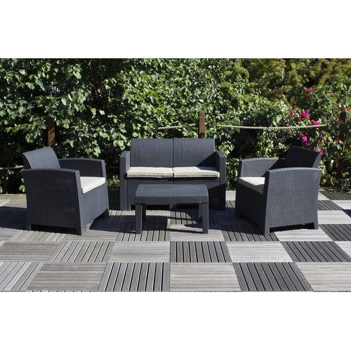 channing 4 seater rattan effect sofa set lynton garden colour black rh pinterest com