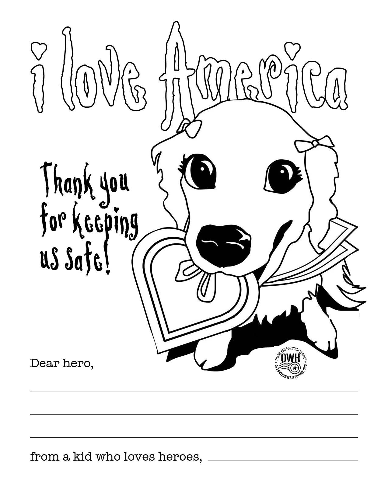 Write To A Hero Coloring Pages