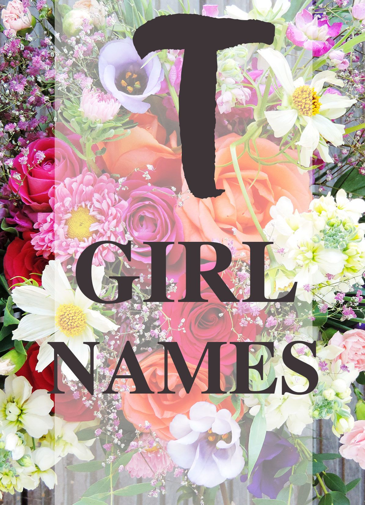 """Baby Girl Names that Start with """"T"""" 
