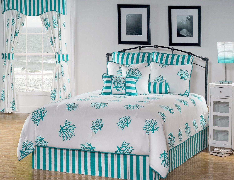 Amazon Com Victor Mill Reef Comforter Set Queen Beach Bedroom