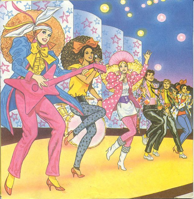 Barbie The Rockers Illustration Golden Book 80s Cartoons Barbie Books Cartoon