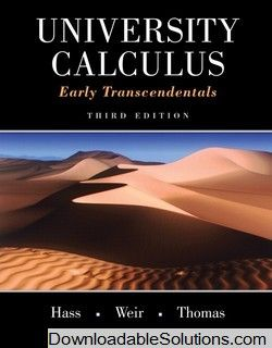 solutions manual for university calculus early transcendentals 3rd rh pinterest com university calculus 2nd edition solutions manual pdf Calculus Formulas