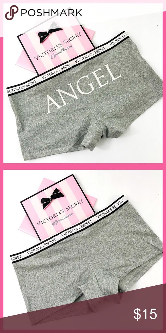 *NEW*Victoria/'s Secret PINK panty Logo Boyshorts~Shortie Panties~Sz Medium