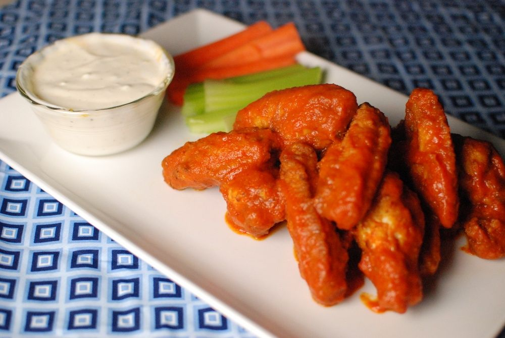 Fried wings tossed in a sauce of pureed kimchi and some other flavors.