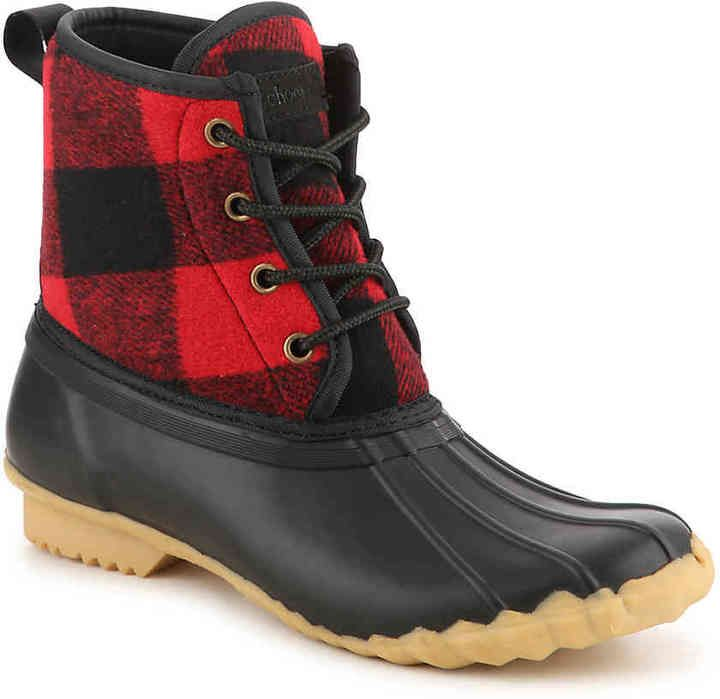 731ffb164a5 Chooka Women s Eastlake Duck Boot -Red Black Plaid Women s Eastlake Duck  Boot -Red Black PlaidWith cozy fleece lining and a buffalo plaid wool  upperthese ...