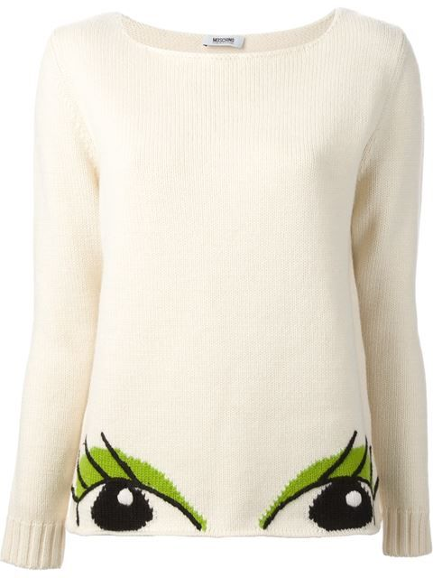 Shop Moschino Cheap & Chic eyes sweater in Stefania Mode from the world's best independent boutiques at farfetch.com. Over 1000 designers from 60 boutiques in one website.