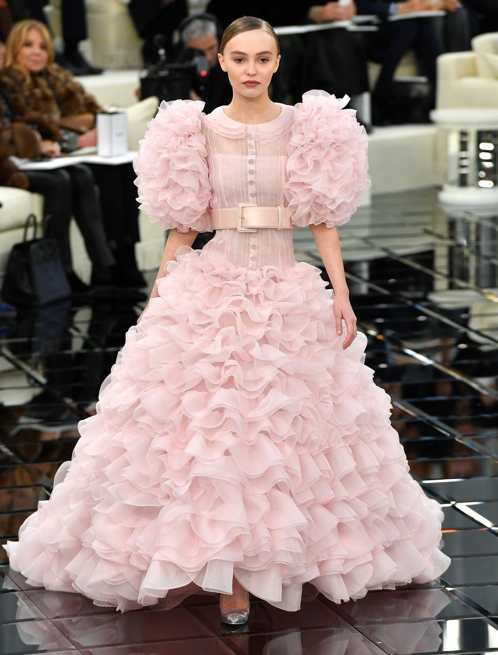 Lily-Rose Depp, 17, Wears Over-the-Top Wedding Gown on Chanel Runway ...