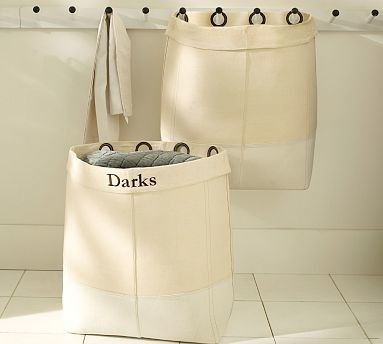 Canvas Hanging Laundry Bags With Grommets Laundry System