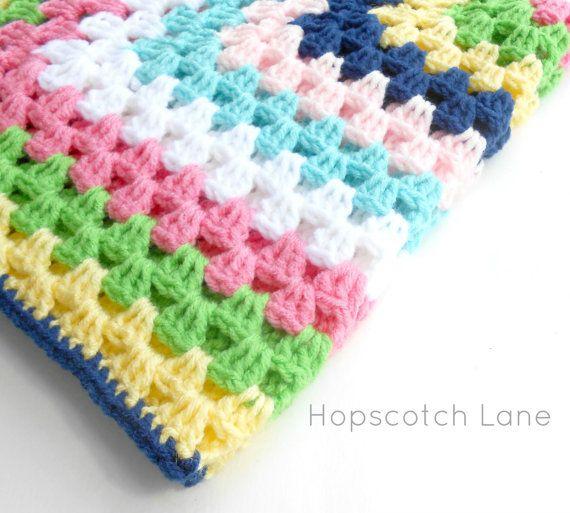 Crochet Baby Blanket - Granny Square Crochet Baby Blanket Afghan ...