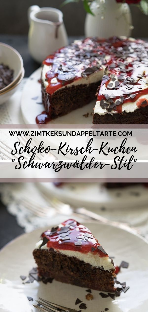 "Photo of Juicy and simple chocolate-cherry cake in the ""Black Forest style"""