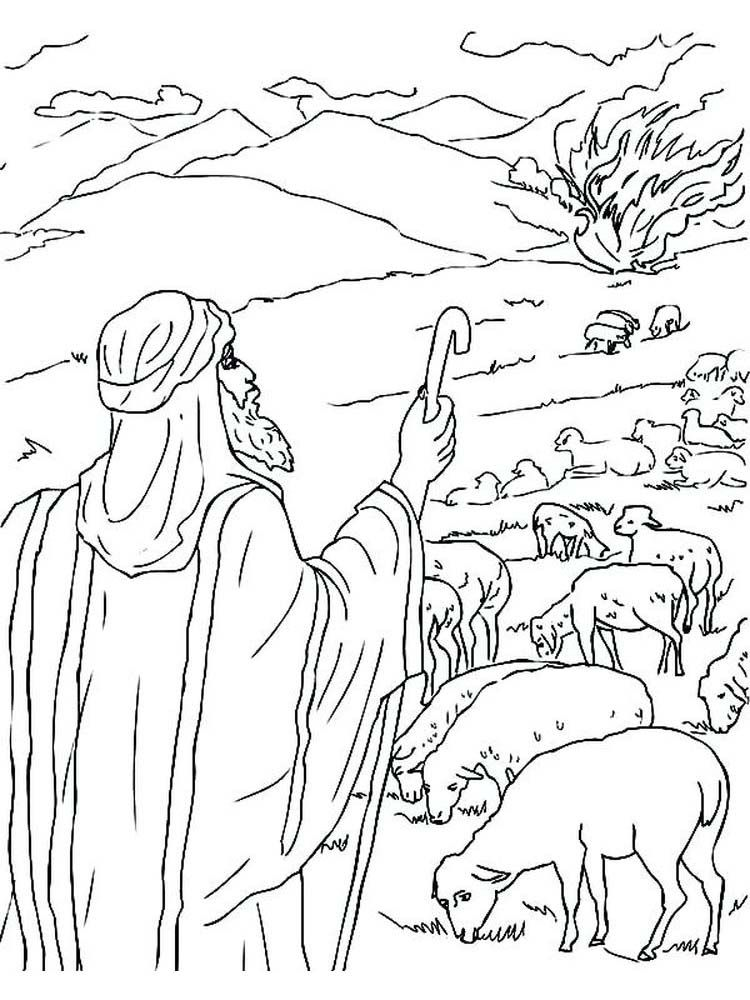 Moses And The Burning Bush Got Questions Coloring Pages Burning