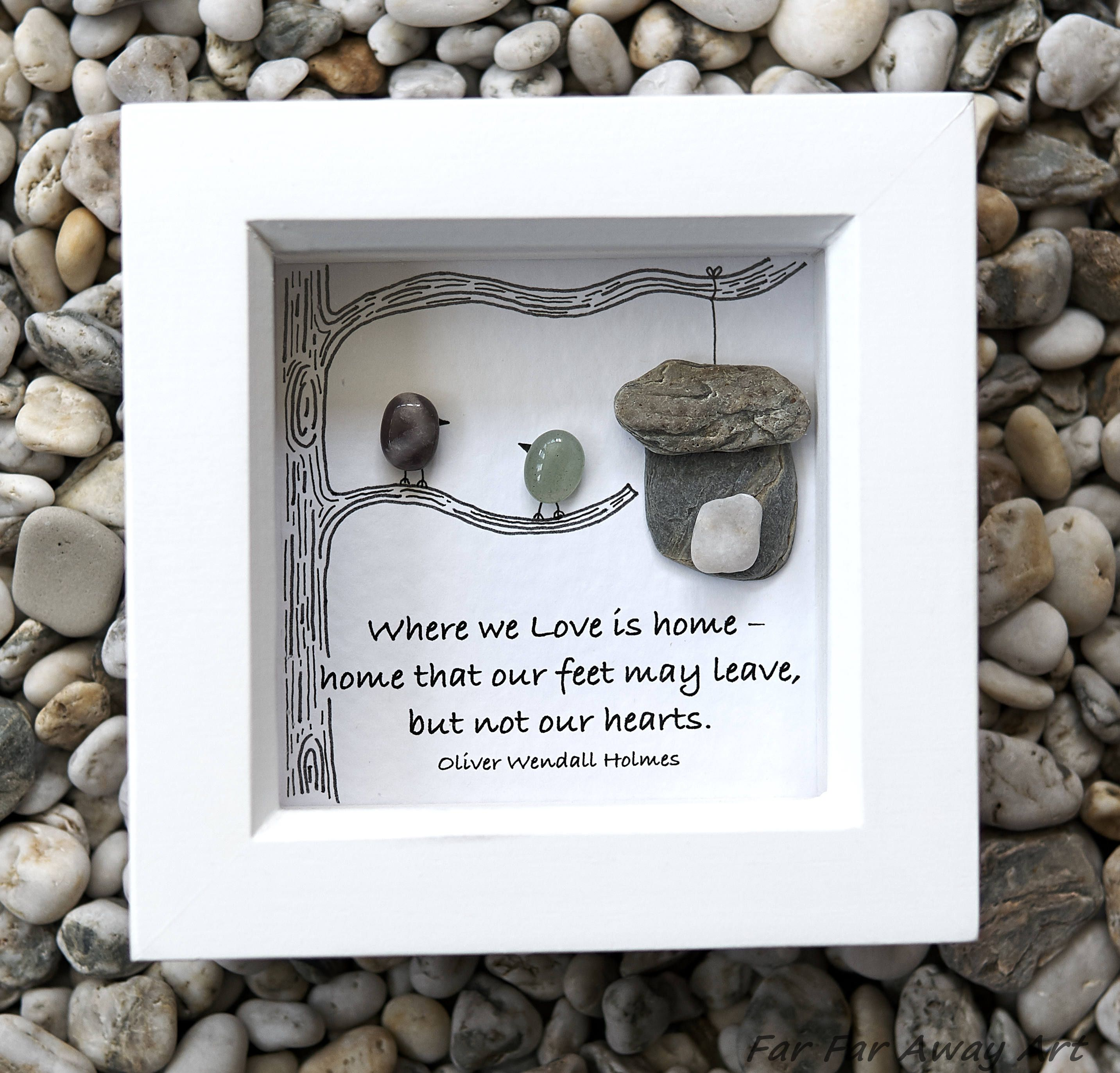 Pebble Art, Home Gift, New Home, Small Gift, Gift for Couple, House ...