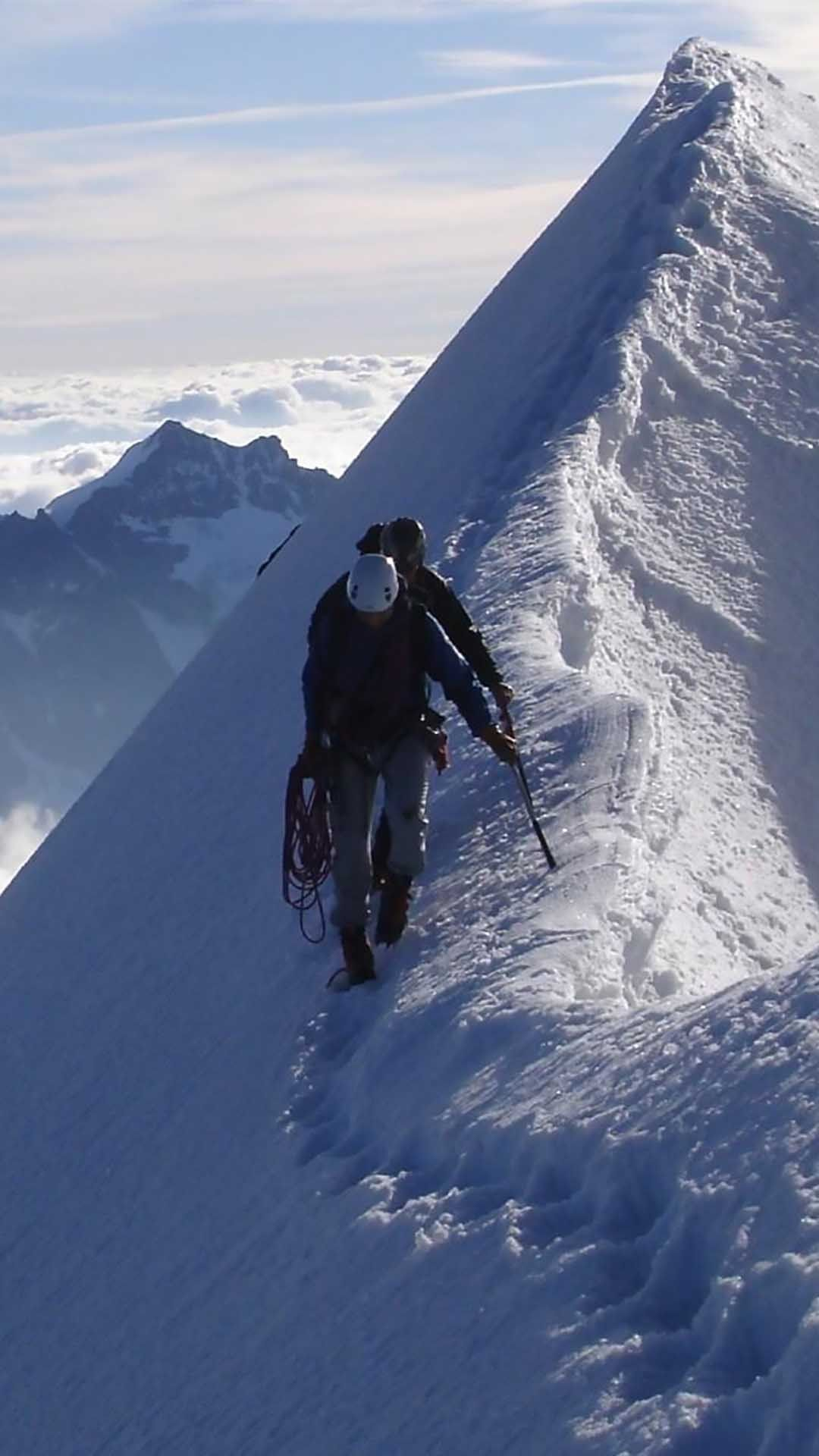 Idea By Ossama On Hiking Snow Skiing Mountain Hiking Iphone