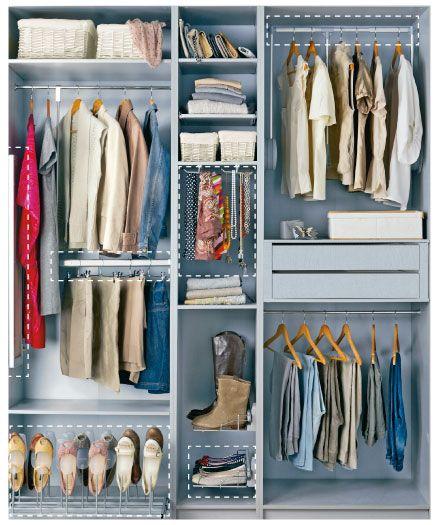 Especial armarios a medida armarios pinterest - Organizacion de armarios ...