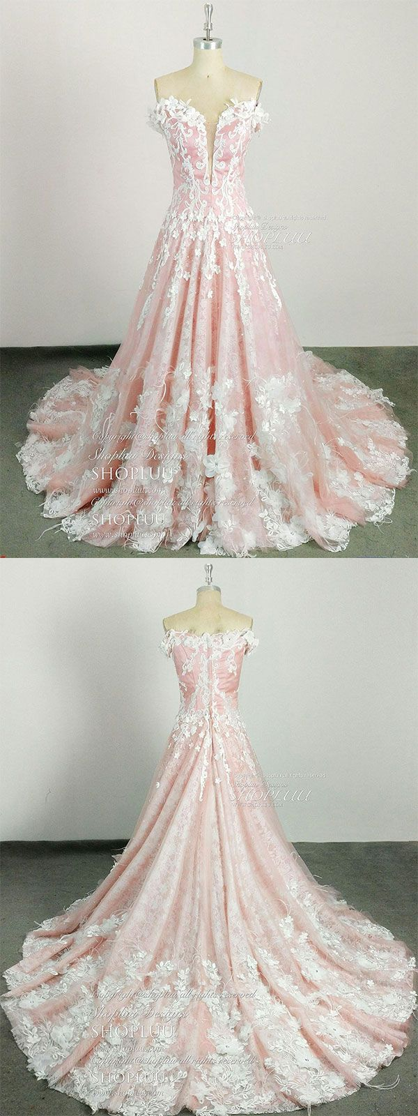 Pink sweetheart neck lace tulle long prom dress pink lace evening