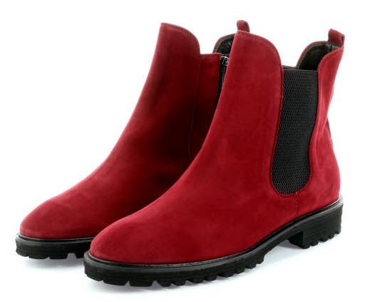 Dieser rote Leder Damen Stiefel von Brunate garantiert eine