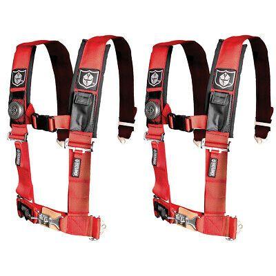 "PAIR RED Pro Armor 4 Point Harness 3/"" Pads Seat Belt Polaris RZR XP1000 XP Turb"