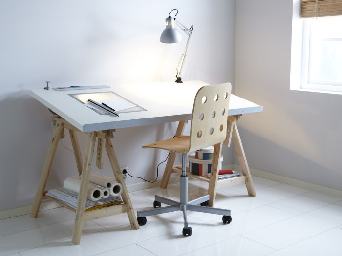Cool bureau idee met schragen. take your time in 2019 ikea desk