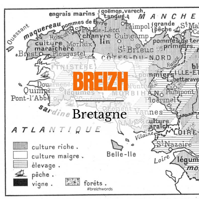 O Breizh Ma Bro Breizhwords Bretagne Bzh Breizh Brittany Breton Finistere Bro Map Carte Words Brittany Bretagne