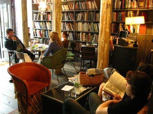 Merci Used Book café Paris. A USED BOOK CAFE.