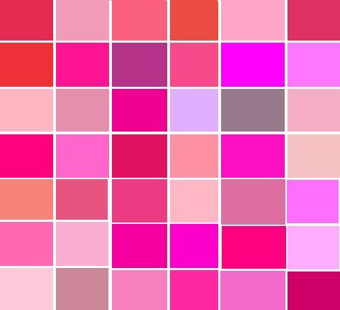 different shades of pink - google search | future closet