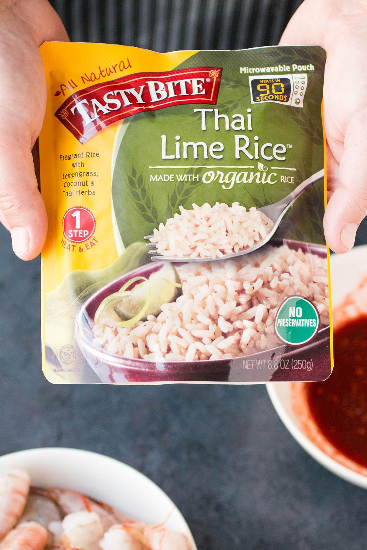 Chili-Garlic Shrimp with Thai Lime Rice