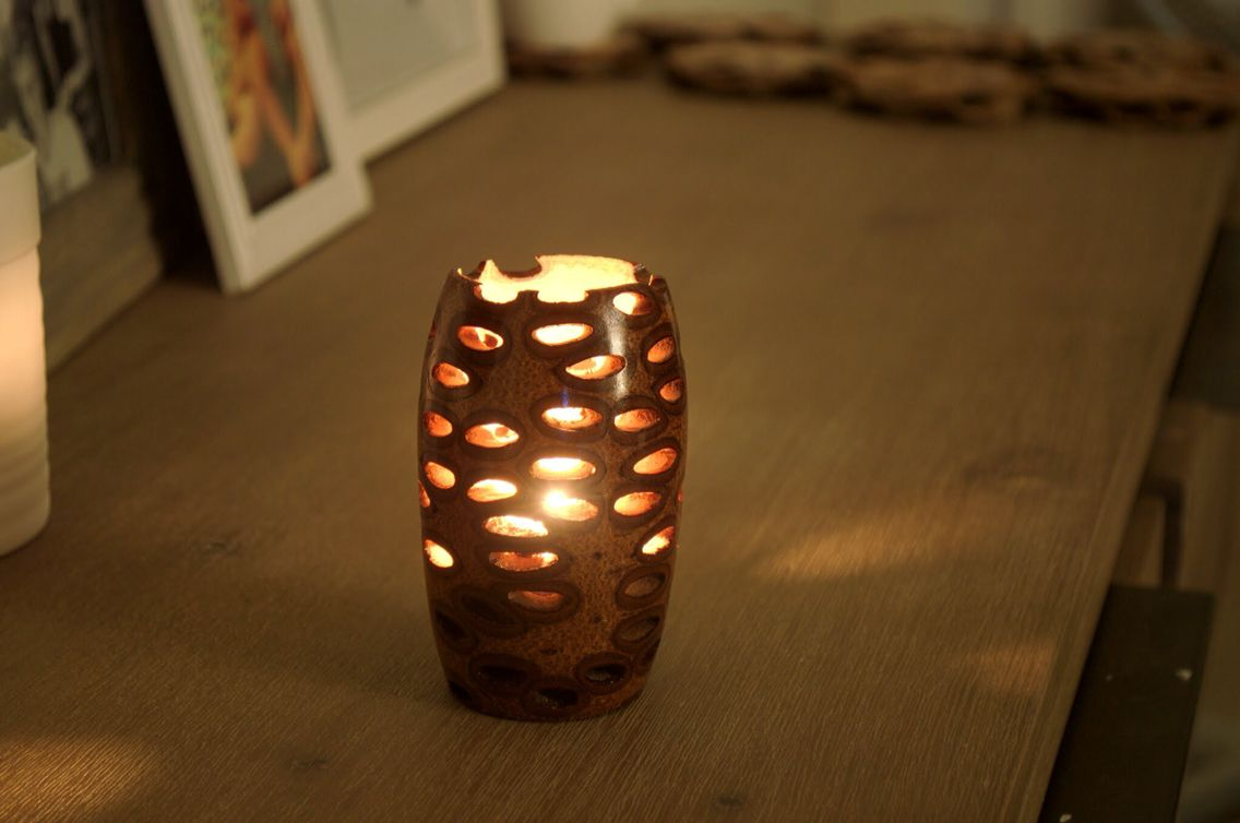 Unique Tealight Candle Holder Made In Australia Out Of A Banksia