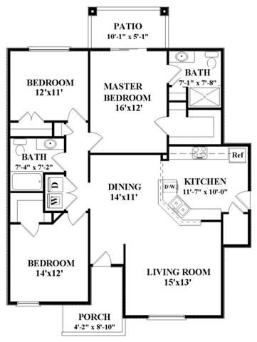 The pennsylvania floorplan is 1411 sq ft and has attached for Bathroom remodel 76244