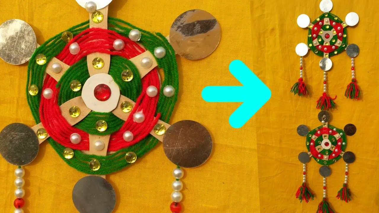 How To Make Wall Hanging || DIY Wall Hanging From Woolen Thread ...
