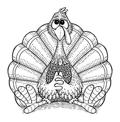 turkey fall coloring pages | karensdoodles | digi: animals | Thanksgiving coloring ...