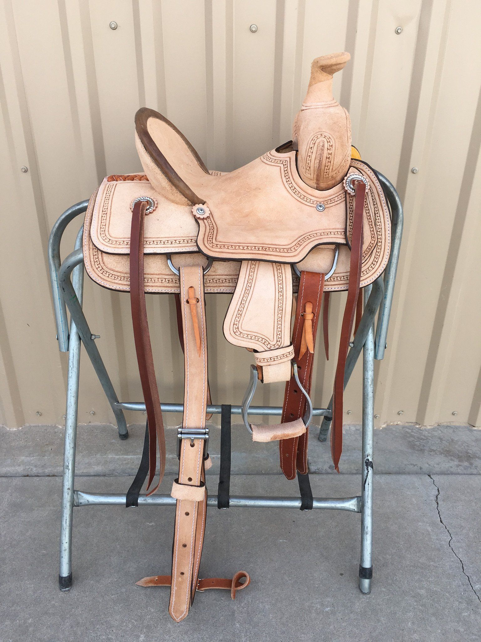 Csy 700a 10 Inch Corriente Youth Kids Buckaroo Association Barrel Saddle Barrel Racing Saddles Rawhide Braiding