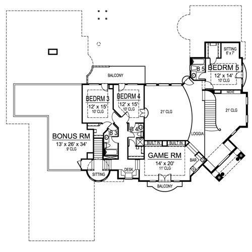 European Luxury House Plan Of Your Dreams