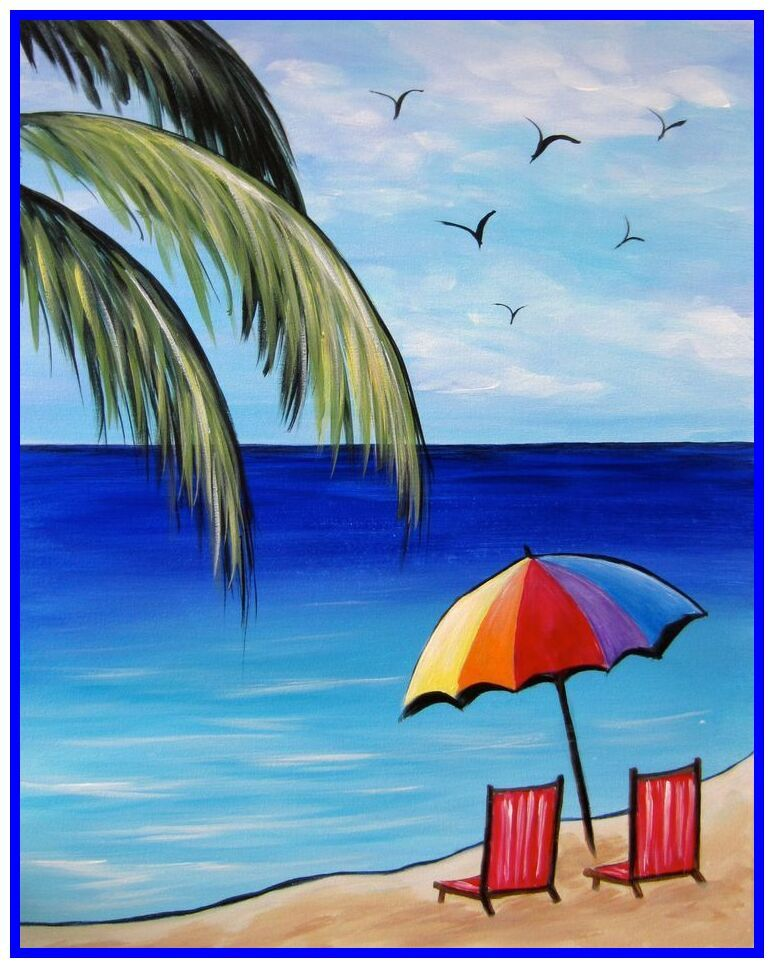 Beach Chair And Parasol Could I Use For Embroidery Hummm Summer Coloring Pages Beach Chairs Beach Coloring Pages