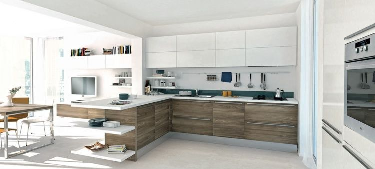 Open And Modern Kitchens Homeadore Modern Kitchen Open Kitchen Design Open Kitchen Interior