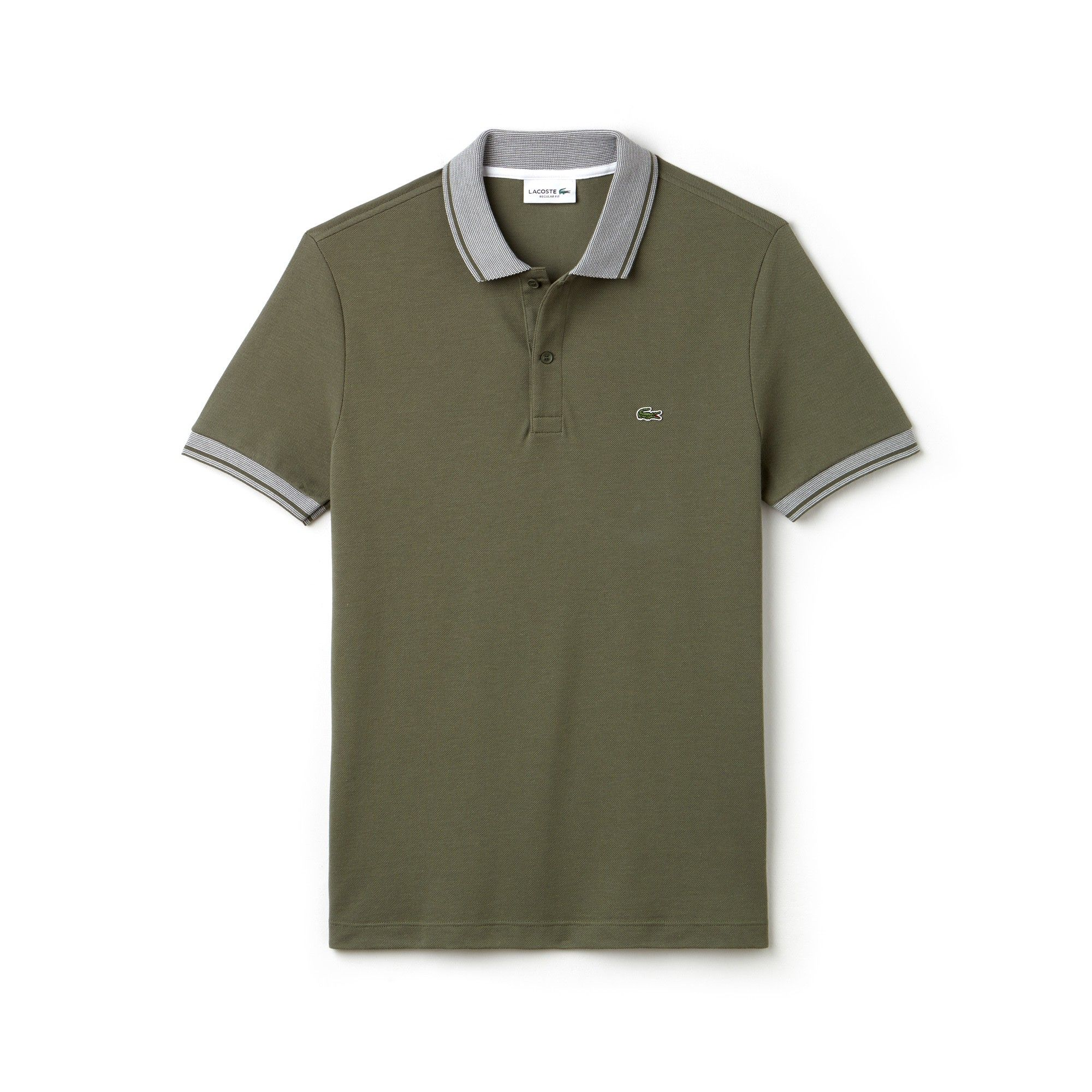 6b7a2c433b95 Lacoste Men s Regular Fit Piped Piqué Polo - Electric White Xxl 7