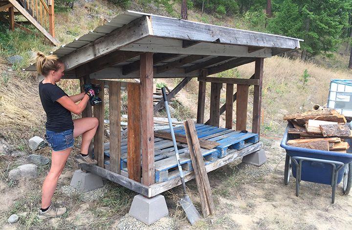 Diy Firewood Storage Shed Plans Yard Ideas Pinterest