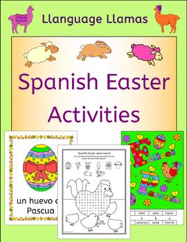 Spanish easter activities puzzles and color by number cards spanish easter activities puzzles and color by number cards pinterest flip books elementary spanish and spanish m4hsunfo