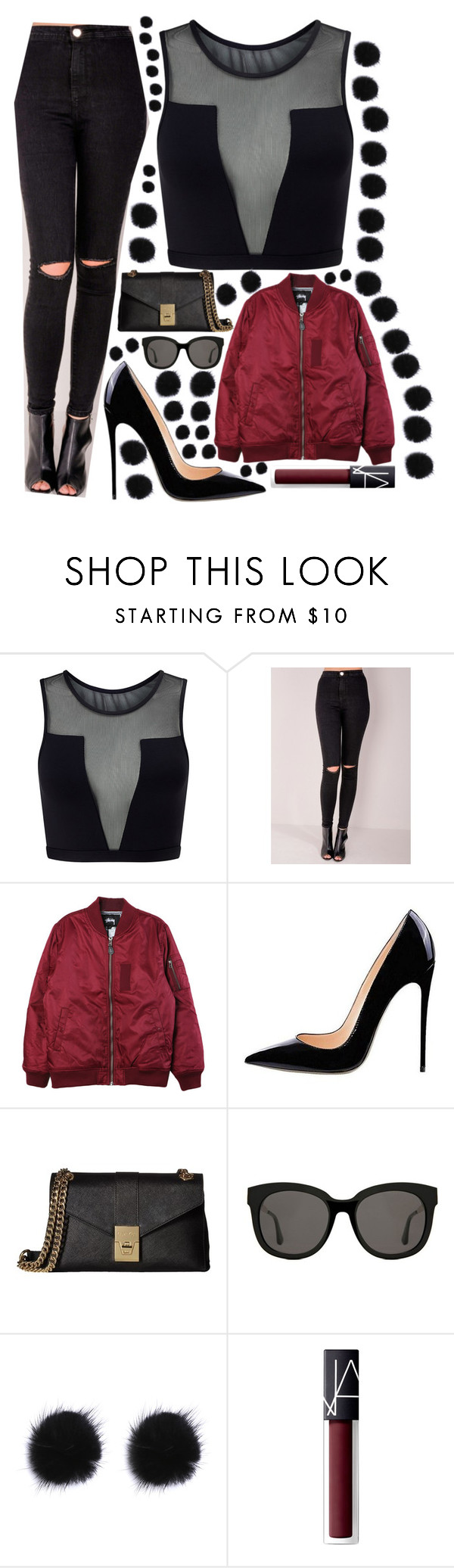 """Untitled #214"" by harrystylessoulmate ❤ liked on Polyvore featuring Varley, Stussy, Calvin Klein, Gentle Monster and NARS Cosmetics"