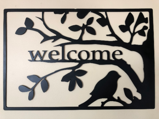 Bird Themed Welcome Sign 23 Wide X 15 5 Tall X 1 8 Thick Steel 11 Gauge Steel Not Thin Tin Sheet Metal Welcome Sign Tin Sheet Metal Metal Welcome Sign