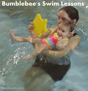 Bumblebee and I love going to Swim Lessons!