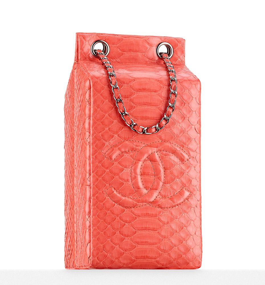 2566ba08c77532 Chanel Python Coco de Lait Minaudiere $4900 | Over The Top | Bags ...