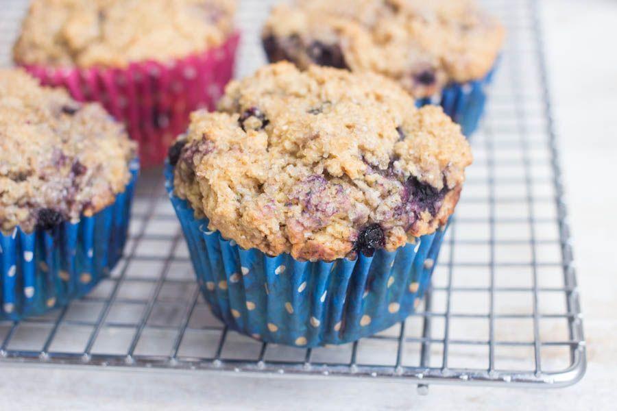 Gluten-Free Whole Grain Blueberry Muffins | Blue berry ...