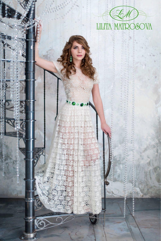 Макси платья связать схема волшебные крючочки фото 865
