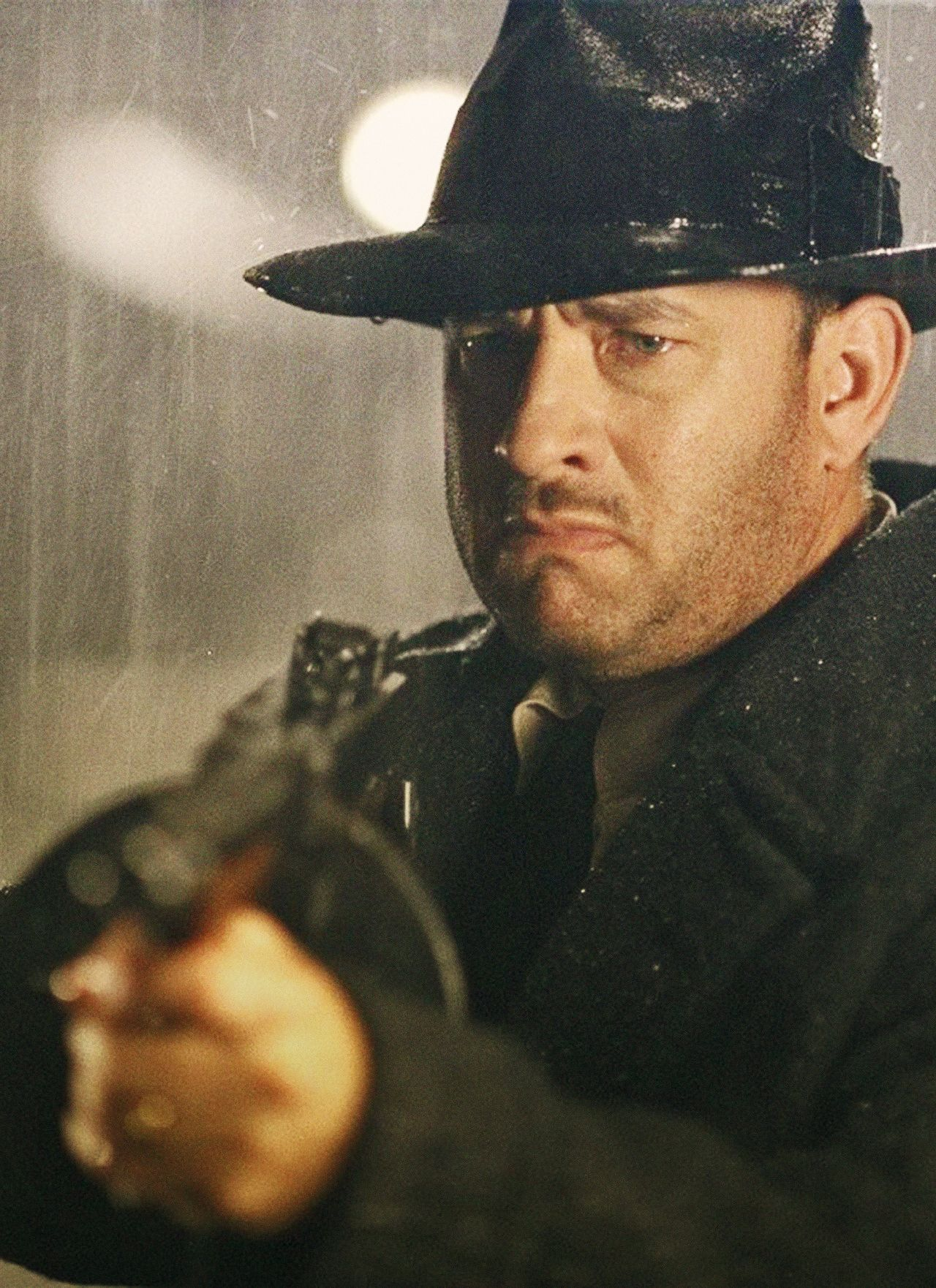 Tom Hanks As Michael Sullivan In Road To Perdition My Favourite Gangster Film Ever I Love The Father An Action Movies To Watch Tom Hanks Best Action Movies