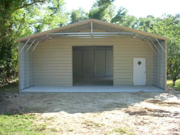 30x50 end combo carports pinterest for Carport shed combo