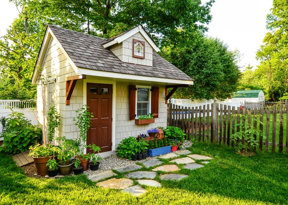 Beautiful wood shed plans method dc metro traditional for Garden building ideas